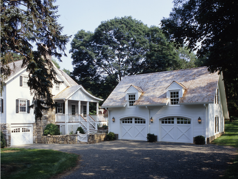 Two story addition and carriage house garage clark for Carriage house garages